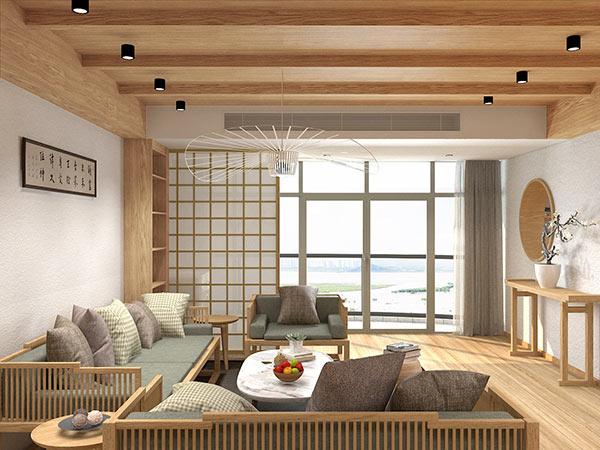 新中式原木风格空间设计