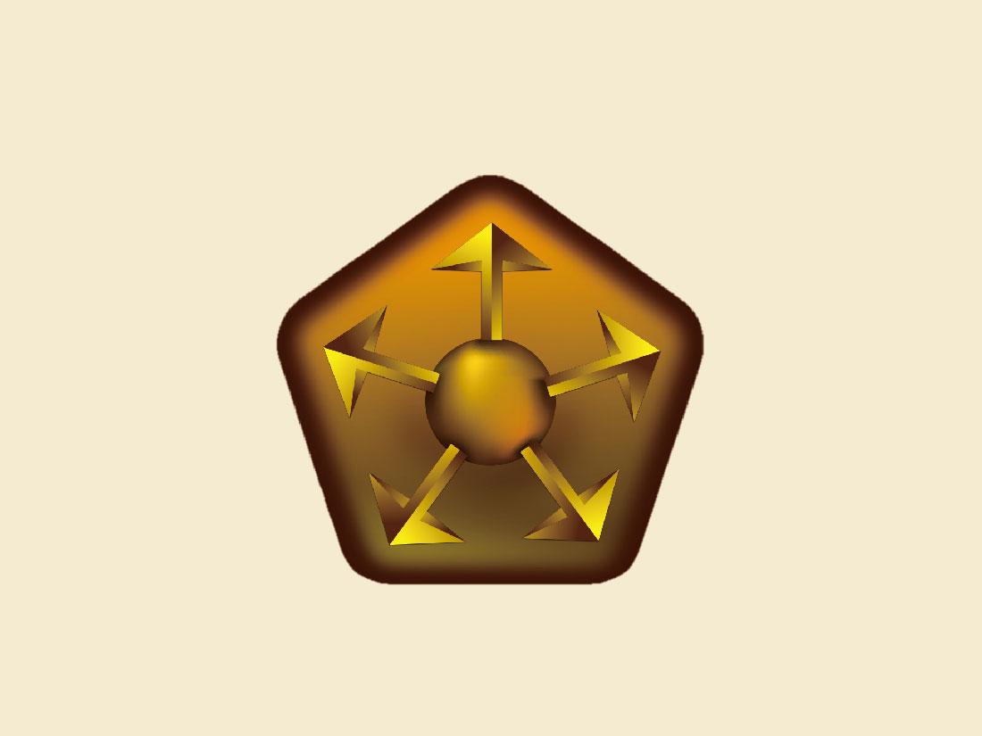 聚成领袖五力课程logo设计